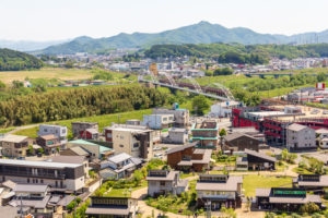 福知山城天守閣から見た街並