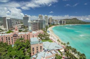 ハワイの絶景(Waikiki Beach)