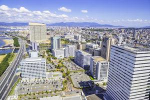 美しい福岡の街並み