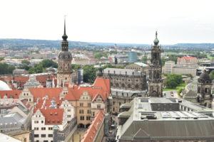 ドレスデンの聖母教会からの眺め