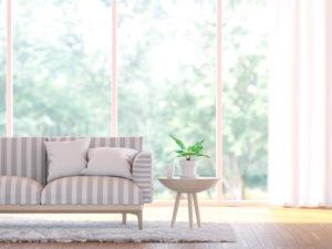 Modern living room close up 3d render