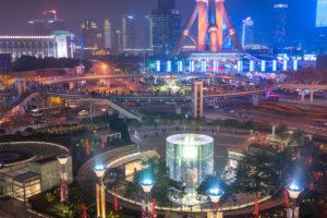 《上海》陸家嘴の夜景・摩天楼
