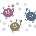 ばい菌の手描きイラスト