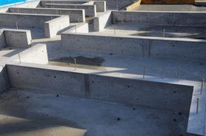 新築家屋のコンクリートの基礎